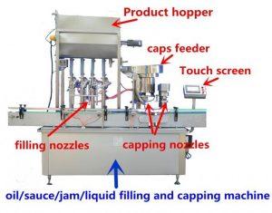 Машина за полнење на мед со голема прецизност за 500мл