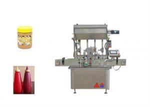 Полу-течна сос за паста со машина за полнење шишиња