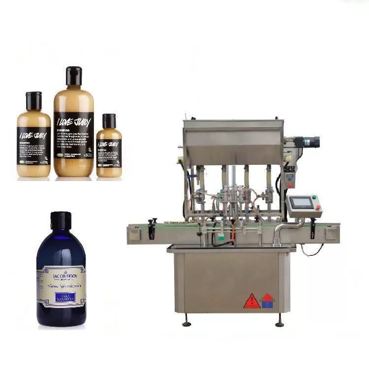 Засилување машина за полнење на шишиња со моторни стакло