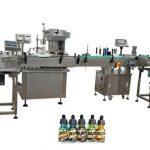 Две глави целосно автоматски машини за полнење шишиња за килибарни шишиња од 30 мл